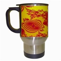Floral Fractal Pattern Travel Mugs (white)