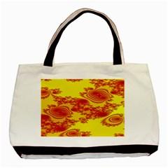 Floral Fractal Pattern Basic Tote Bag (two Sides)