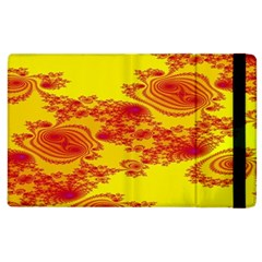 Floral Fractal Pattern Apple Ipad 3/4 Flip Case