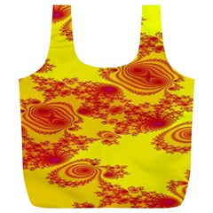 Floral Fractal Pattern Full Print Recycle Bags (l)