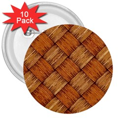 Vector Square Texture Pattern 3  Buttons (10 Pack)