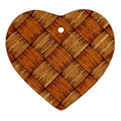 Vector Square Texture Pattern Heart Ornament (two Sides)
