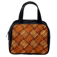 Vector Square Texture Pattern Classic Handbags (one Side)
