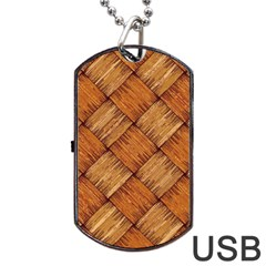 Vector Square Texture Pattern Dog Tag Usb Flash (one Side)