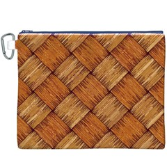 Vector Square Texture Pattern Canvas Cosmetic Bag (xxxl)