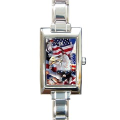 United States Of America Images Independence Day Rectangle Italian Charm Watch