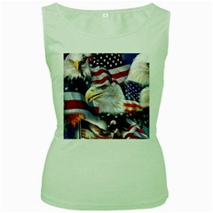 United States Of America Images Independence Day Women s Green Tank Top