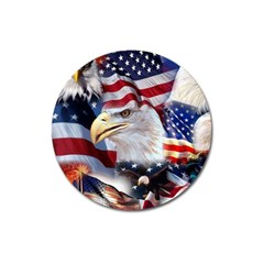United States Of America Images Independence Day Magnet 3  (round)