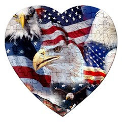 United States Of America Images Independence Day Jigsaw Puzzle (heart)
