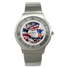 United States Of America Images Independence Day Stainless Steel Watch
