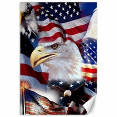 United States Of America Images Independence Day Canvas 12  X 18