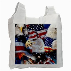 United States Of America Images Independence Day Recycle Bag (one Side)