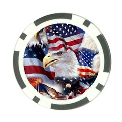 United States Of America Images Independence Day Poker Chip Card Guard (10 Pack)