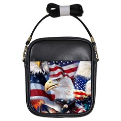 United States Of America Images Independence Day Girls Sling Bags