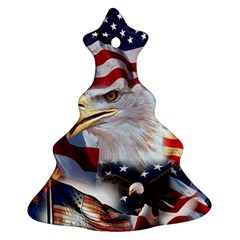 United States Of America Images Independence Day Christmas Tree Ornament (two Sides)