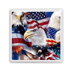 United States Of America Images Independence Day Memory Card Reader (square)