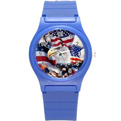 United States Of America Images Independence Day Round Plastic Sport Watch (s)