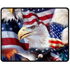 United States Of America Images Independence Day Double Sided Fleece Blanket (medium)