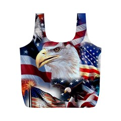 United States Of America Images Independence Day Full Print Recycle Bags (m)