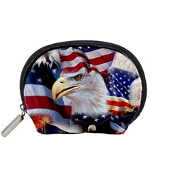 United States Of America Images Independence Day Accessory Pouches (small)