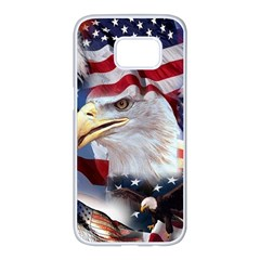 United States Of America Images Independence Day Samsung Galaxy S7 Edge White Seamless Case