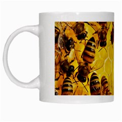 Honey Honeycomb White Mugs