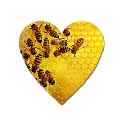 Honey Honeycomb Heart Magnet
