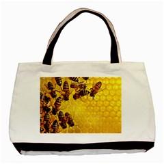 Honey Honeycomb Basic Tote Bag