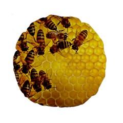 Honey Honeycomb Standard 15  Premium Round Cushions