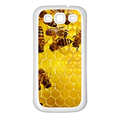 Honey Honeycomb Samsung Galaxy S3 Back Case (white)