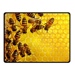 Honey Honeycomb Double Sided Fleece Blanket (small)