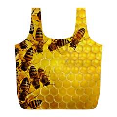 Honey Honeycomb Full Print Recycle Bags (l)