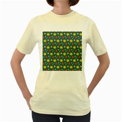 The Gift Wrap Patterns Women s Yellow T Shirt