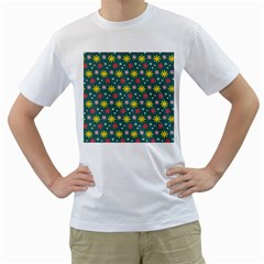 The Gift Wrap Patterns Men s T Shirt (white) (two Sided)