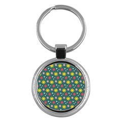 The Gift Wrap Patterns Key Chains (round)