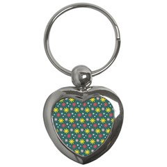The Gift Wrap Patterns Key Chains (heart)