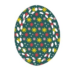 The Gift Wrap Patterns Oval Filigree Ornament (two Sides)