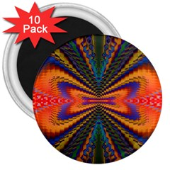 Casanova Abstract Art Colors Cool Druffix Flower Freaky Trippy 3  Magnets (10 Pack)