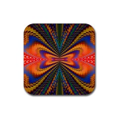 Casanova Abstract Art Colors Cool Druffix Flower Freaky Trippy Rubber Coaster (square)