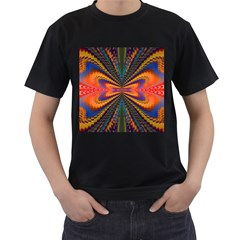 Casanova Abstract Art Colors Cool Druffix Flower Freaky Trippy Men s T Shirt (black) (two Sided)