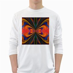 Casanova Abstract Art Colors Cool Druffix Flower Freaky Trippy White Long Sleeve T Shirts