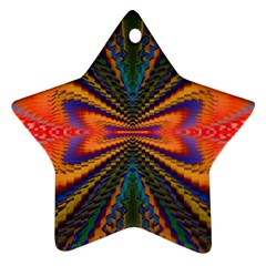 Casanova Abstract Art Colors Cool Druffix Flower Freaky Trippy Star Ornament (two Sides)
