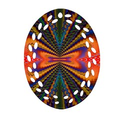 Casanova Abstract Art Colors Cool Druffix Flower Freaky Trippy Ornament (oval Filigree)