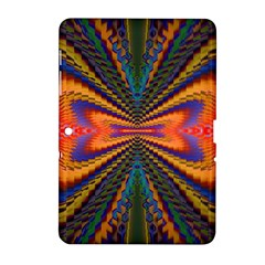 Casanova Abstract Art Colors Cool Druffix Flower Freaky Trippy Samsung Galaxy Tab 2 (10 1 ) P5100 Hardshell Case