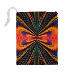 Casanova Abstract Art Colors Cool Druffix Flower Freaky Trippy Drawstring Pouches (Large)  Back