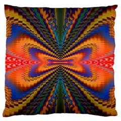 Casanova Abstract Art Colors Cool Druffix Flower Freaky Trippy Standard Flano Cushion Case (two Sides)