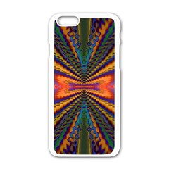 Casanova Abstract Art Colors Cool Druffix Flower Freaky Trippy Apple Iphone 6/6s White Enamel Case