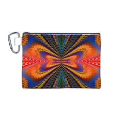 Casanova Abstract Art Colors Cool Druffix Flower Freaky Trippy Canvas Cosmetic Bag (m)