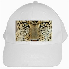 Leopard Face White Cap