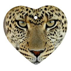 Leopard Face Ornament (heart)